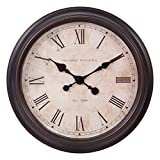 Patton Wall Decor 18'' Antique Wall Clock, Bronze