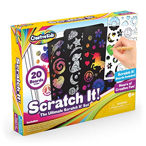 Childrens Art Crafts - Creative Kids Ultimate Scratch It Off Papers Activity Set for Kids | Rainbows Scratchboard Arts & Crafts Kits for Children | Party Favor Pack, Schools, Birthdays | for Boys & Girls Ages 3+