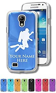 Personalized Case/Cover for Samsung Galaxy S4 Mini - SCUBA DIVER - Engraved for FREE