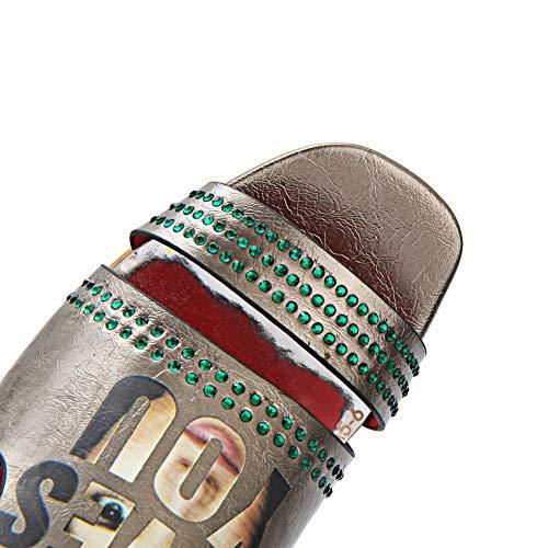 AdeeSu Bronze Femme Ouvert Bout SLC04397 gq401rg