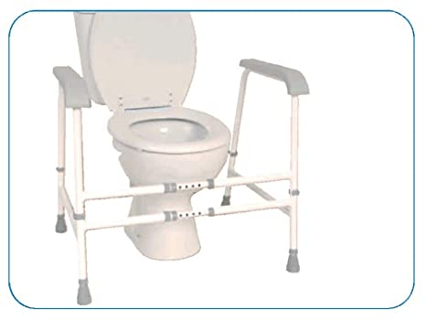 Superb Nrs Healthcare Nuvo Height Adjustable And Width Adjustable Free Standing Toilet Frame Eligible For Vat Relief In The Uk Creativecarmelina Interior Chair Design Creativecarmelinacom