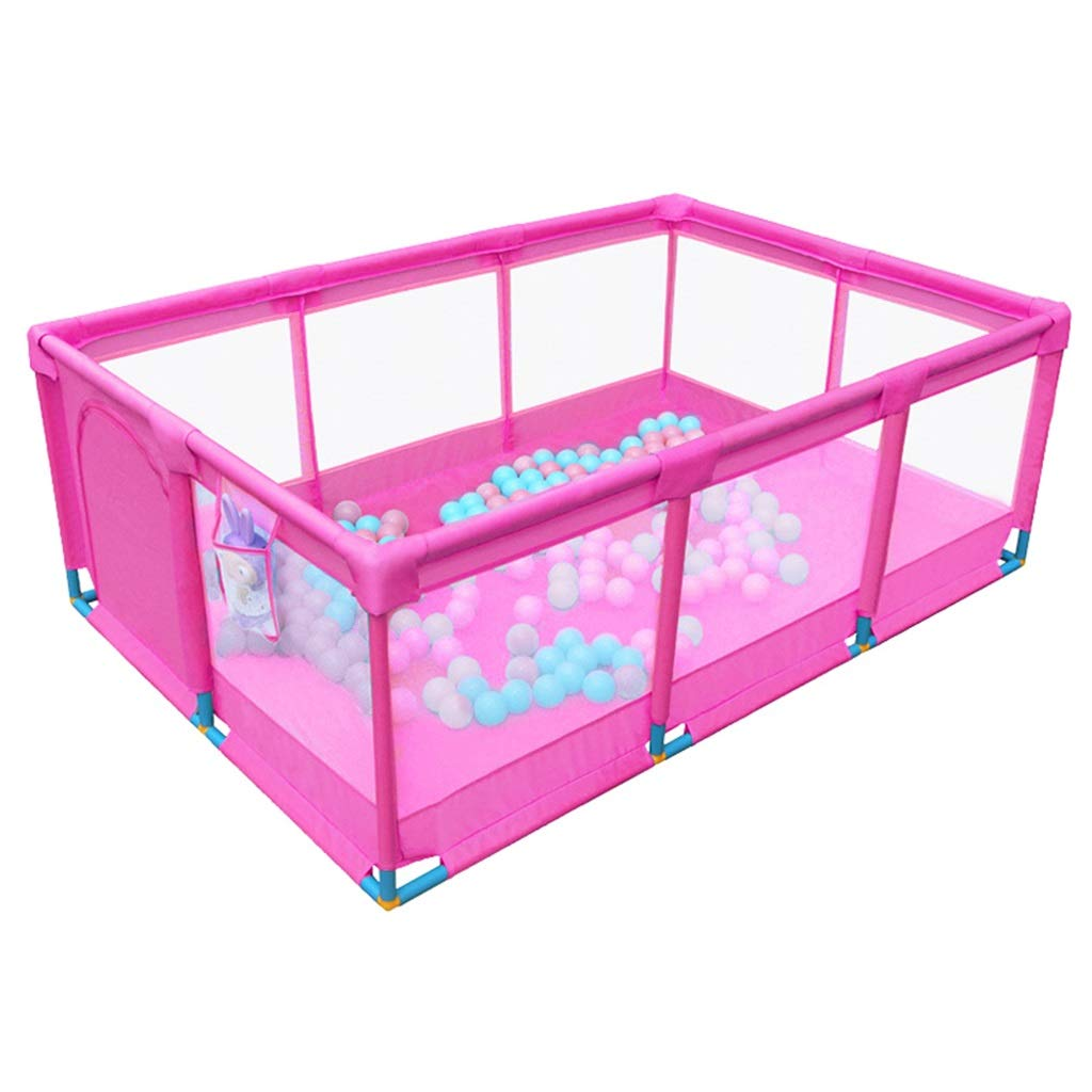 Baby Large Safety Fence Kids Ball Pit Tent - Playpen - for Indoor/Outdoor Fun Activities,Great Birthday Gift for Girl or Boy (Balls Not Included) Pink