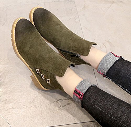KUKI Herbst Frauen Stiefel High-Heels Martin Stiefel billig Damen Stiefel runde Kopf Shorts Damenschuhe , US7.5 / EU38 / UK5.5 / CN38