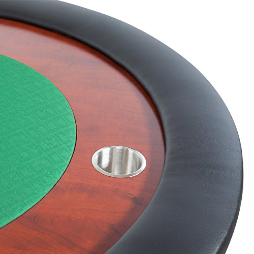 BBO Poker Ultimate Jr. Folding Poker Table for 8 Players with Green Speed Cloth Playing Surface, 82 x 44-Inch Oval by BBO Poker (Image #2)