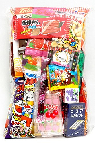 Assorted Japanese Junk Food Snack 'Dagashi' Economical 34 Packs of 27 Types