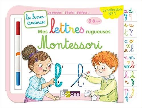 Mes Lettres Rugueuses Montessori Avec Un Feutre Effacable