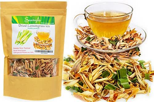 Seangla Organic Dried Lemongrass Tea & Pandan Herb - Fine Cut and Sifted 2.1 Oz