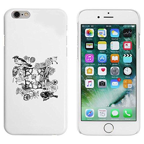 Blanc 'Motif Oiseau Floral' étui / housse pour iPhone 6 & 6s (MC00043322)