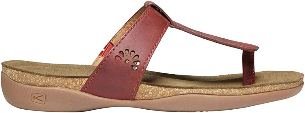 KEEN Womens Kaci Ana Posted T-Strap Leather Thong Sandals