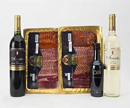 Pack Gourmet de Surtido Ibérico, Vino Acantus Airén-Verdejo de ...