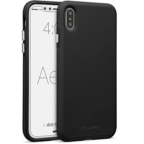 Cellairis - Aero Grip Cell Phone Case for Apple iPhone Xs Max (Midnight) from Cellairis