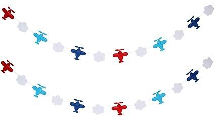 Amazon.com: 2 guirnaldas de nubes de avión para decoración ...