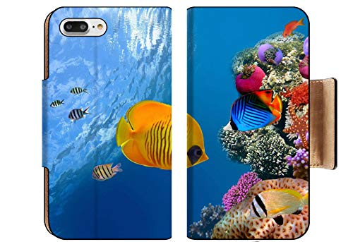 Liili Premium Apple iPhone 8 Plus Flip Pu Wallet Case Image ID: 10397931 Masked Butterfly Fish Chaetodon semilarvatus Red Sea Egypt ()