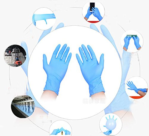 Nitrile Exam Gloves - Medical Grade, Powder Free, Latex Rubber Free, Disposable, Non Sterile, Food Safe, Indigo color (Medium) by DOWELL (Image #5)
