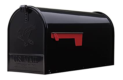 Gibraltar Mailboxes Elite Large Capacity Galvanized Steel Black Post-Mount Mailbox E1600B00  sc 1 st  Amazon.com & Amazon.com: Gibraltar Mailboxes Elite Large Capacity Galvanized ...