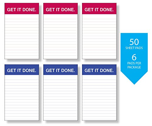 GET IT DONE Memo Pads Beautiful Sophisticated Design 6 Pack Notepads 3