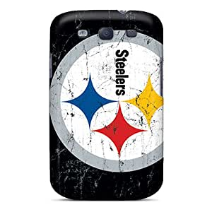 Shock Absorption Cell-phone Hard Covers For Galaxy S3 With Unique Design Trendy Pittsburgh Steelers Series No1cases