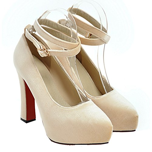 YE Damen Elegant Ankle Strap Wildleder High Heels Plateau Pumps mit Roter  Sohle Schnalle Party Schuhe ...