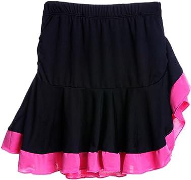 Falda de Baile Latino Plisada de Rosy Falda Blanda de práctica ...