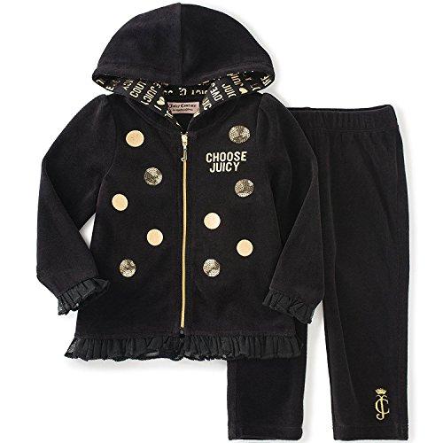 Juicy Couture Black Velour Pants - 7