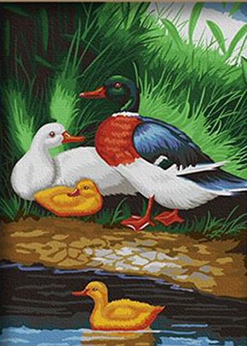 Greek Art Paintworks Paint Color By Number,Playing Ducks,12-Inch by 16-Inch