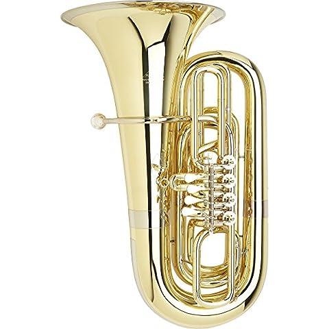 Miraphone 191 Series 5/4 BBb Tuba S191-4V Yellow Brass 4 Valves Standard Slides - Bb Tuba