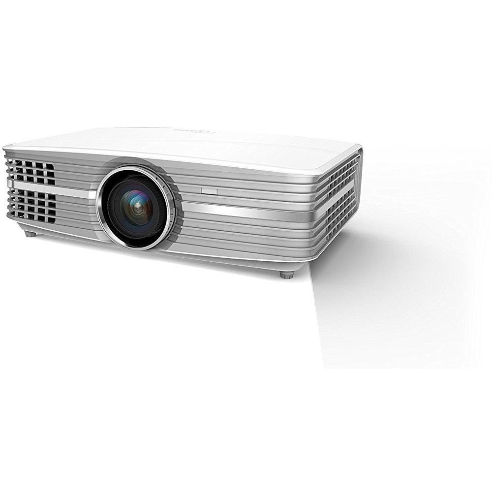 Paquete de proyector de video de cine en casa de alta definición Optoma UHD60 4K con soporte de techo para proyector y cable HDMI de alta velocidad de 6 pies