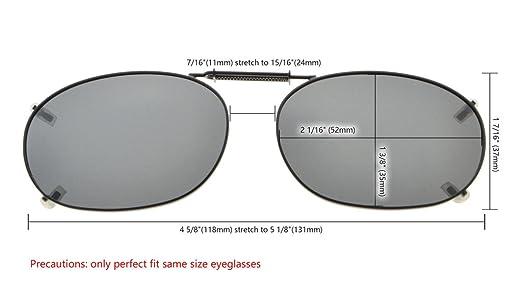 Eyekepper Sur-Lunettes de soleil polarisee monture metallique 52 35MM G15 verre UFb7B0ug