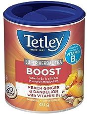 Tetley Super Herbal Tea Sunshine: Lemon & Orange with Vitamin D - 20 Count