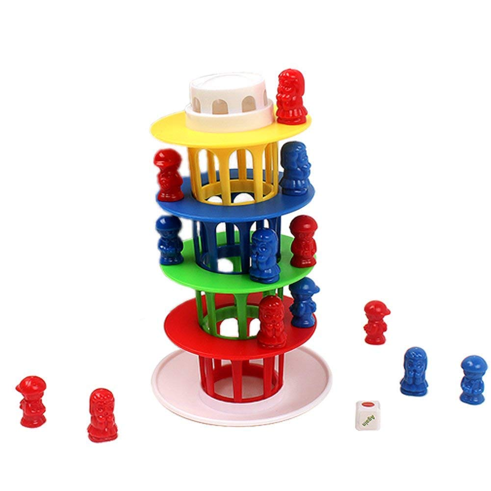 Coolbitz Wobbly Balance Board Stacking Game Tower Plasic Puzzles Interactive Family Party Toy