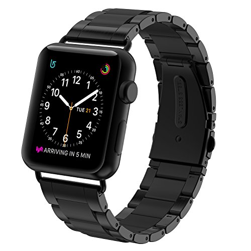 Greeninsync Apple Watch Band, Special Edition Stainless Steel Wristbands Metal Buckle Clasp Watch Strap Replacement Bracelet with Silicone Cover for Apple Watch Series 3/2/1 42mm 38mm 2017