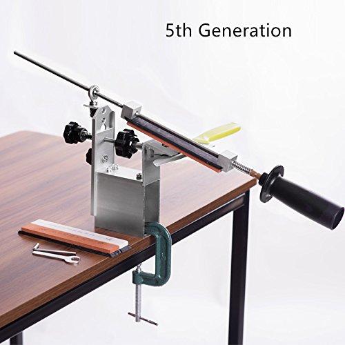 (Portable Rotation 360 Degree Pencil Knife KME Knife Sharpener System 3 Whetstone (120#, 600#, 1500#))