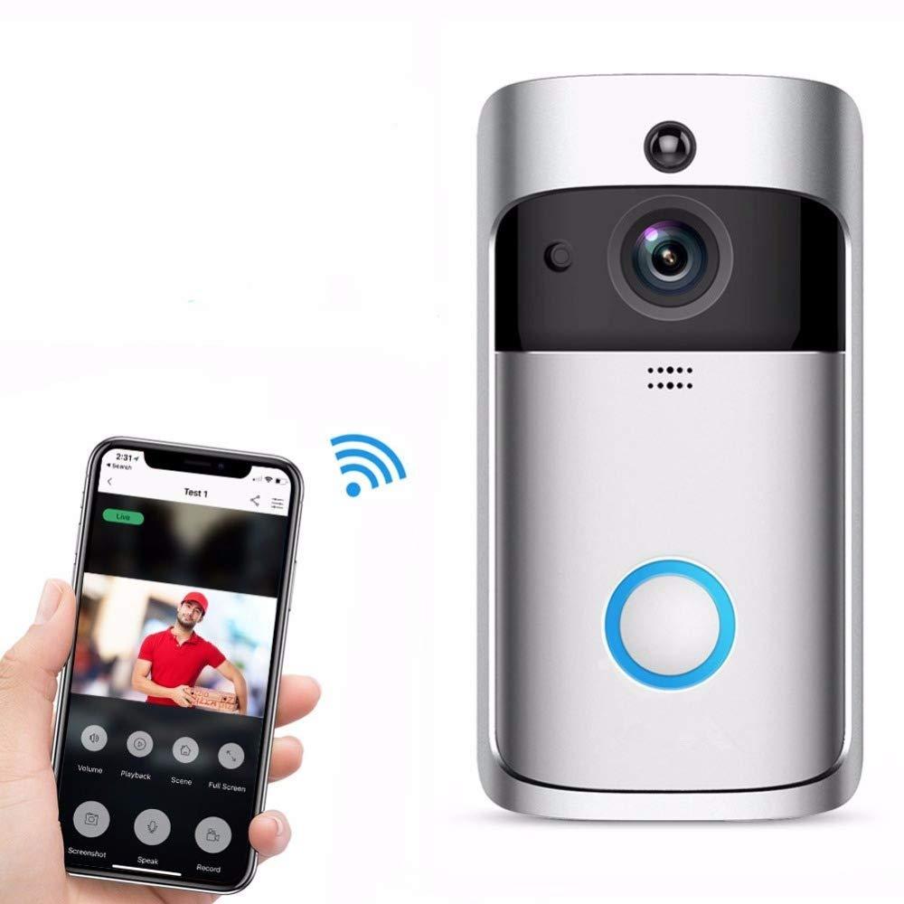 LLY WiFi Video Intercom Türklingel, 166 Grad Weitwinkel-Intelligente Wireless Security System, Mobile Fernbedienung, Infrarot-Mobile Monitoring