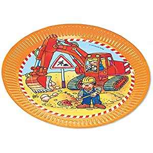 Lutz Mauder 8 Platos * Excavadora & Obras * para Fiestas de ...