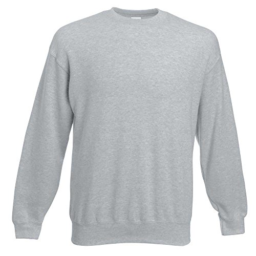 Gris Homme Loom Fruit Of shirt heather Grey Sweat The ZTqYf6nwYX