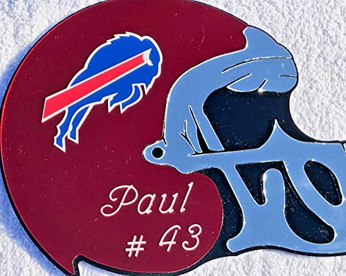 Buffalo Bills NFL Football Helmet Wall Decor Wall Hanging Personalized Free Engraved Mirror Sign NFL Sports Memorabilia - with Your Name On ()