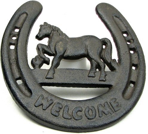 (VoojoStore Horseshoe Welcome Wall Plaque - Unique Gift For Birthday Christmas Wedding Anniversary Engagement Graduation Couples Men Women Mom Dad Grandpa Sister Wife Husband Friends)