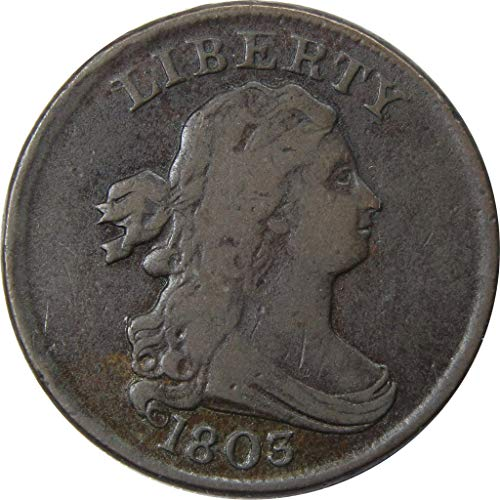 1803 1/2c Draped Bust Half Cent Penny Coin VF Very Fine