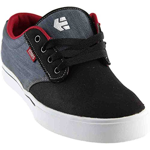 etnies Men's Jameson 2 Eco Skateboarding Shoe, Black/Charcoal/Red, 9 M US - Etnies Skateboarding