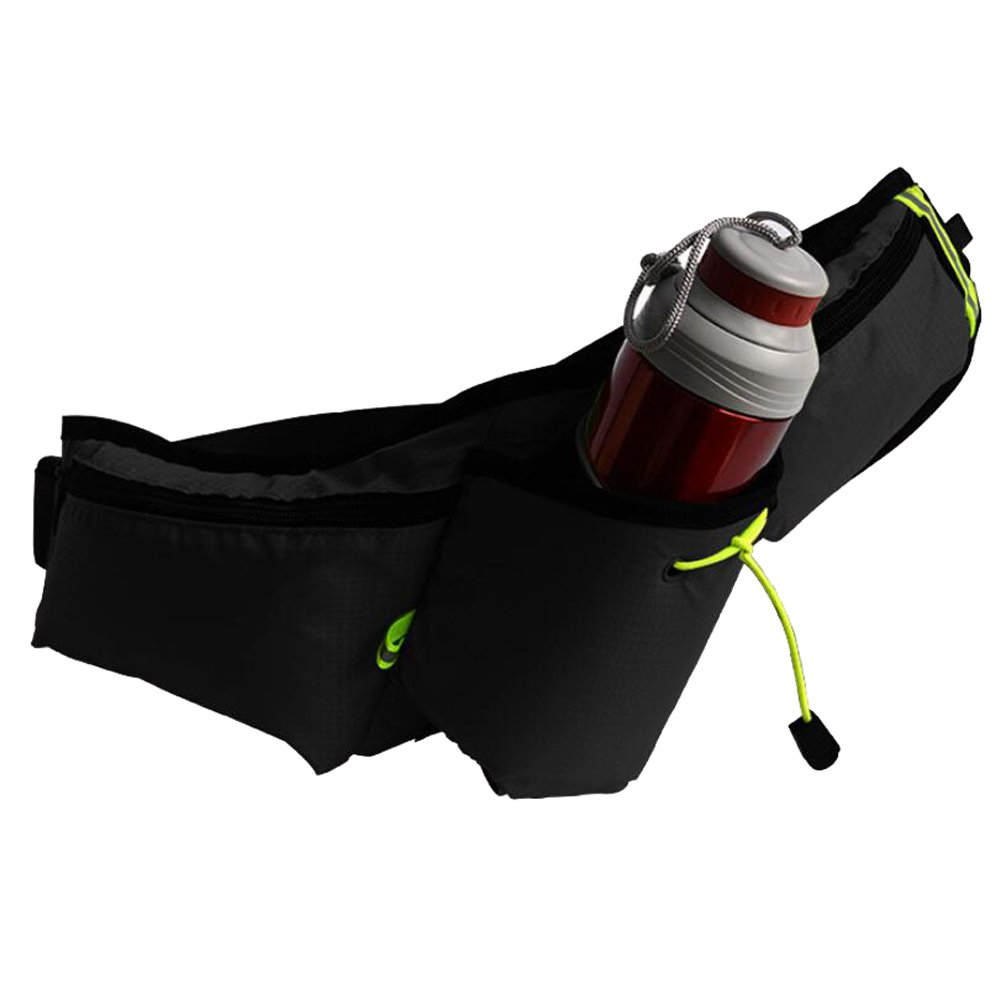 Running Belt (Without Water Bottle) Pockets Outdoor Sports Walking Running Riding Mountaineering,Green DYYTRm