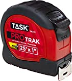 Task Tools TR213 25-Feet ProTrak Tape Measure, Left-Handed, Red
