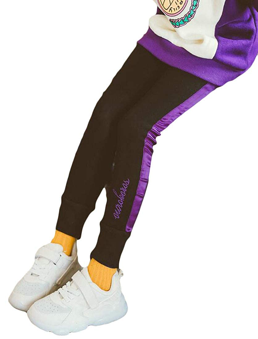 Sweatwater Girls Classic Fit Thick Jogger Fleece Cute Trousers Legging