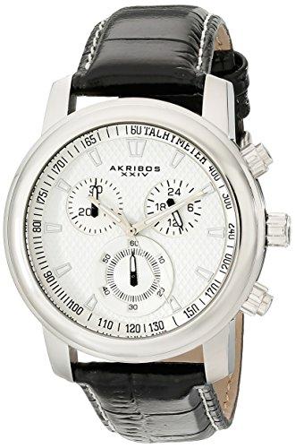 Akribos XXIV Men's AKR443SS Ultimate Quartz Chronograph White Dial Watch