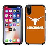 Prime Brands Group Textured Team Color Cell Phone Case for Apple iPhone X - NCAA Licensed University of Texas Longhorns