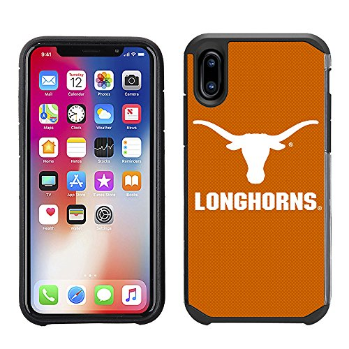 - Prime Brands Group Textured Team Color Cell Phone Case for Apple iPhone X - NCAA Licensed University of Texas Longhorns