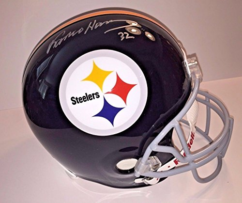 Bradshaw Autographs - FRANCO HARRIS SIGNED PITTSBURGH STEELERS HELMET COA PSA/DNA AUTOGRAPH BRADSHAW