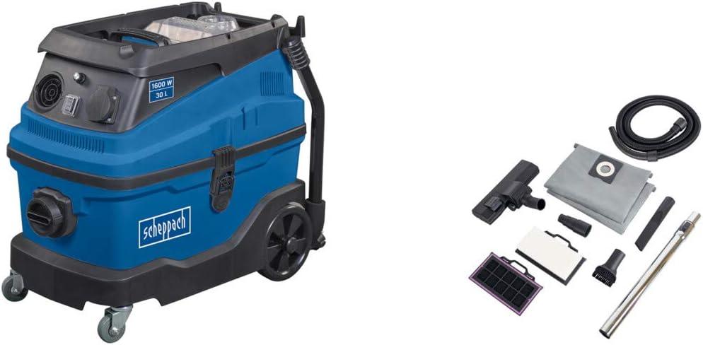 Scheppach asp30 húmedo/seco aspiradora 30 L 1,6 kw 230 V filtro HEPA: Amazon.es: Bricolaje y herramientas