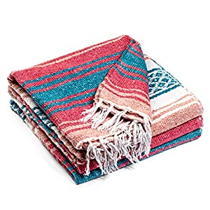 Well-Being-Matters 517gNHCb%2B2L._SS300_ Authentic Mexican Blanket - Premium Yoga Blanket Beach Blanket - Well Made Picnic Blanket, Travel Blanket, Outdoor…