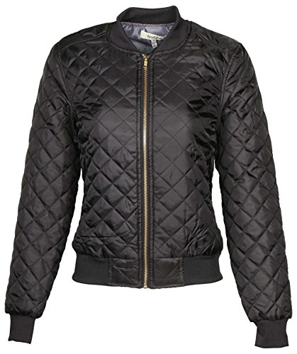 Quilted Knit Bomber Jacket - 1