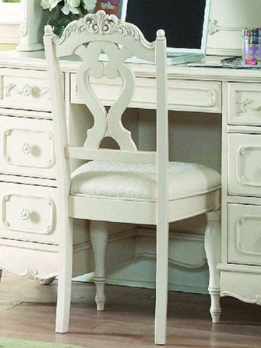 Home Elegance Cinderella Writing Desk Chair by in Off-White/Cream